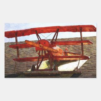 Vintageflygplan av Shirley Taylor Rektangulärt Klistermärke