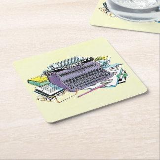 Vintageförfattare papper för skrivmaskinen för underlägg papper kvadrat