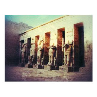 Vintagefoto av tempelet av Medinet Habu Vykort