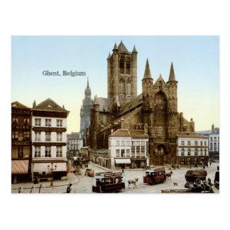 Vintagefoto: Ghent Belgien Vykort