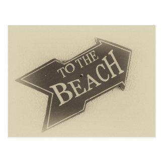 Vintagefoto till strandpilen vykort