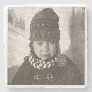 Vintagefoto Underlägg Sten