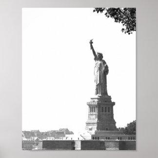 VintagefotoNew York City frihetsgudinnan Poster