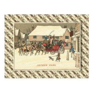 Vintagefrankriken, arrangerar lagledaren i byn vykort