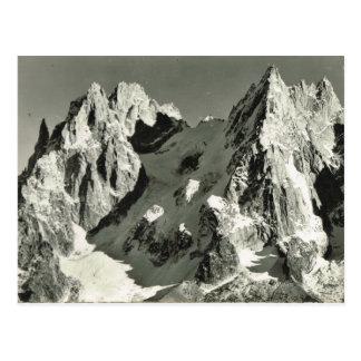 Vintagefrankriken, Chamonix, Mont Blanc Vykort
