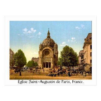 Vintagefrankriken, Église Sanktt-Augustin de Paris Vykort