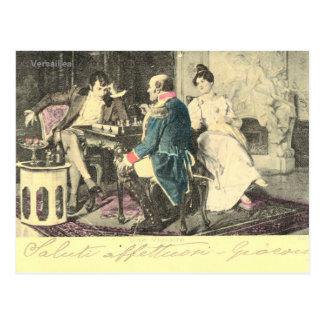 Vintagefrankriken, en mer seger, schacklek vykort