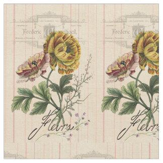 Vintagefransk blommar Digital konst Tyg