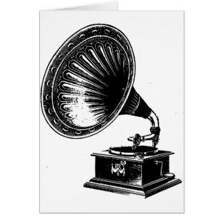 Vintagegrammofon Hälsningskort