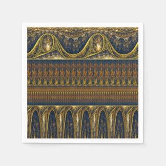 Vintagegränsspegel - antik blått servett