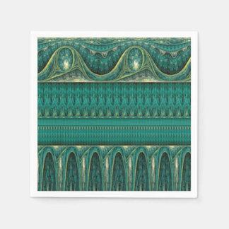 Vintagegränsspegel - havblått papper servett