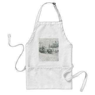 VintageGrönland, arktisk fiskeflotta Förkläde
