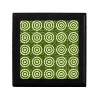 Vintagegrönt cirklar smyckeskrin