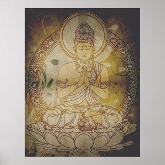 VintageGrunge Buddha Affischer