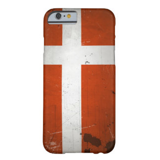 VintageGrungeDanmark flagga Barely There iPhone 6 Fodral