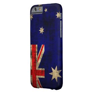 VintageGrungeflagga av Australien Barely There iPhone 6 Skal