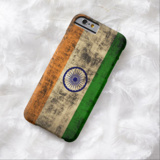 VintageGrungeflagga av Indien Barely There iPhone 6 Fodral