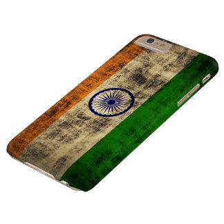 VintageGrungeflagga av Indien Barely There iPhone 6 Plus Fodral