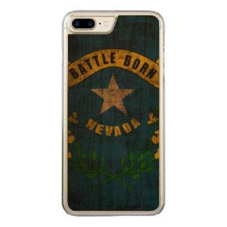 VintageGrungestatlig flagga av Nevada Carved iPhone 7 Plus Skal