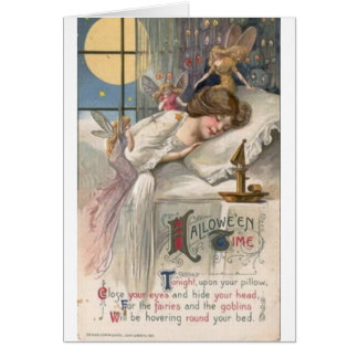 VintageHalloween älvor & elakt troll, Hälsningskort