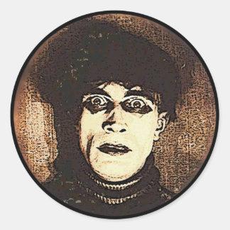 VintageHalloween spöklik Ghoul Runt Klistermärke