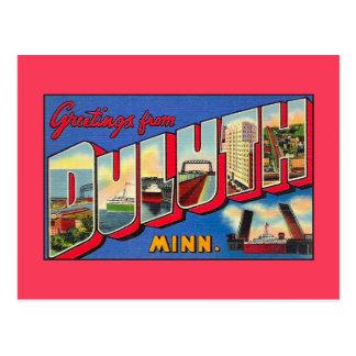 Vintagehälsningar från Duluth MN Vykort