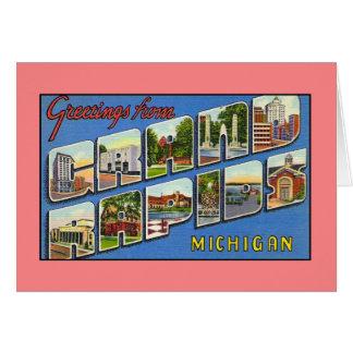 Vintagehälsningar från Grand Rapids MI Hälsningskort