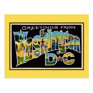 Vintagehälsningar från Washington DC Vykort