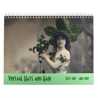 Vintagehattar och hår ---Sept 2017 - Aug 2018 Kalender