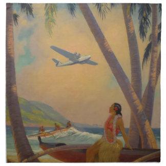 Vintagehawaiibon reser - den Hawaii flickadansare Tygservett