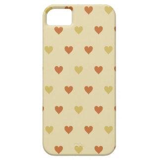 Vintagehjärtamönster - beige bakgrund iPhone 5 Case-Mate skal