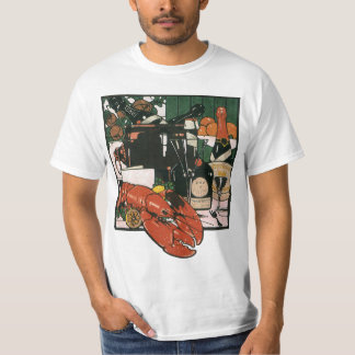 Vintagehummerchampagne; Utsmyckat elegantt party Tee Shirt