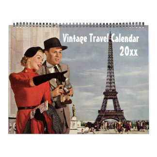 Vintageillustrationen reser och transport kalender