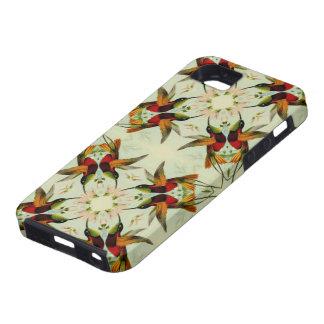 VintageillustrationHummingbirds och blommor iPhone 5 Hud
