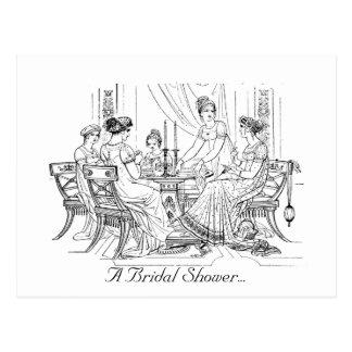 Vintageinbjudningskort för möhippan vykort