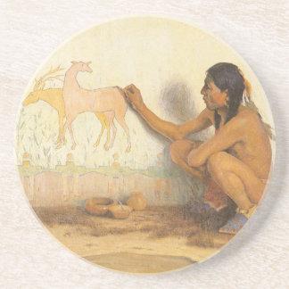 Vintageindian, indisk konstnär vid Couse Underlägg