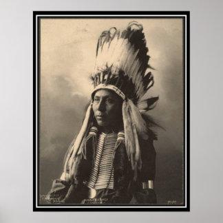 Vintageindier: Hubble stor häst, Cheyenne - Poster