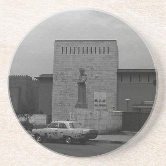 VintageIrak Baghdad museum 1970 Underlägg Sandsten