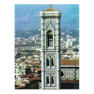 Vintageitalien, Firenze, Duomo, Giottos belltower Vykort
