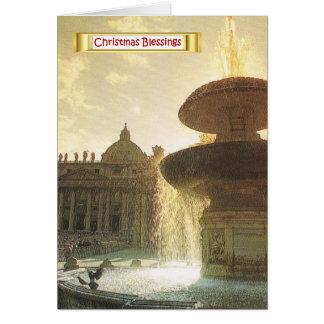 Vintageitalien, Rome, Vatican, St Peter Hälsningskort