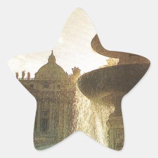 Vintageitalien, Rome, Vatican, St Peter Stjärnformat Klistermärke