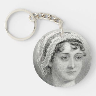VintageJane Austen illustration Keychain