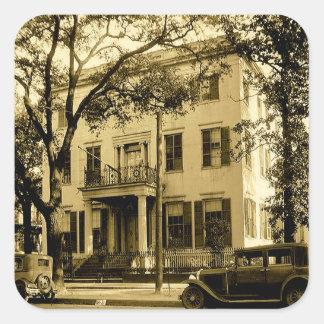 VintageJonathan Emanuel herrgård, mobila Alabama Fyrkantigt Klistermärke