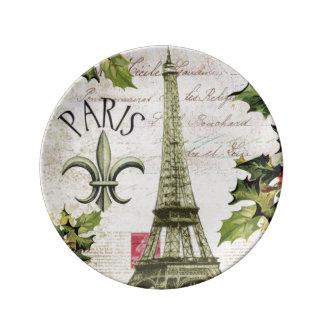 Vintagejul i Paris Porslinstallrik
