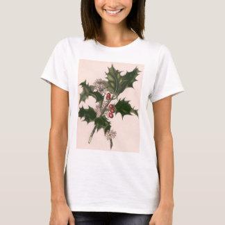 Vintagejul, järnekväxt med röda bär t-shirt