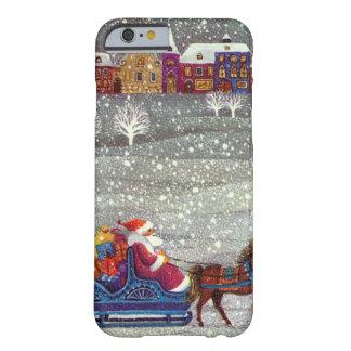 Vintagejul, öppen Sleigh för jultomtenhäst Barely There iPhone 6 Fodral