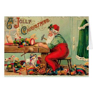 Vintagejul på Santas seminarium Hälsningskort