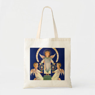 Vintagejul, skandinavisk Sanktt Lucia änglar Budget Tygkasse