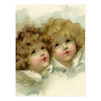 Vintagejul, Victorianänglar i molnen Vykort