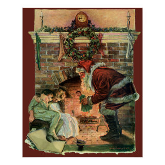 Vintagejul, Victorianjultomtenbarn Poster